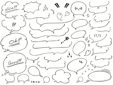 Vector handwritten speech bubble