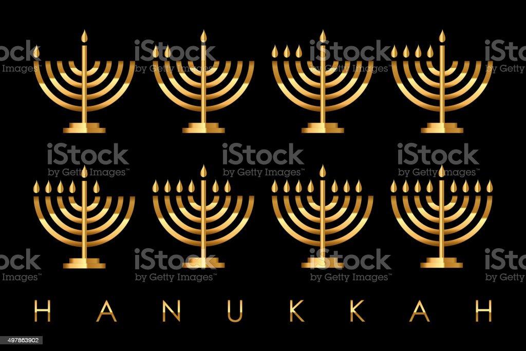 Vector Hanukkah card vector art illustration