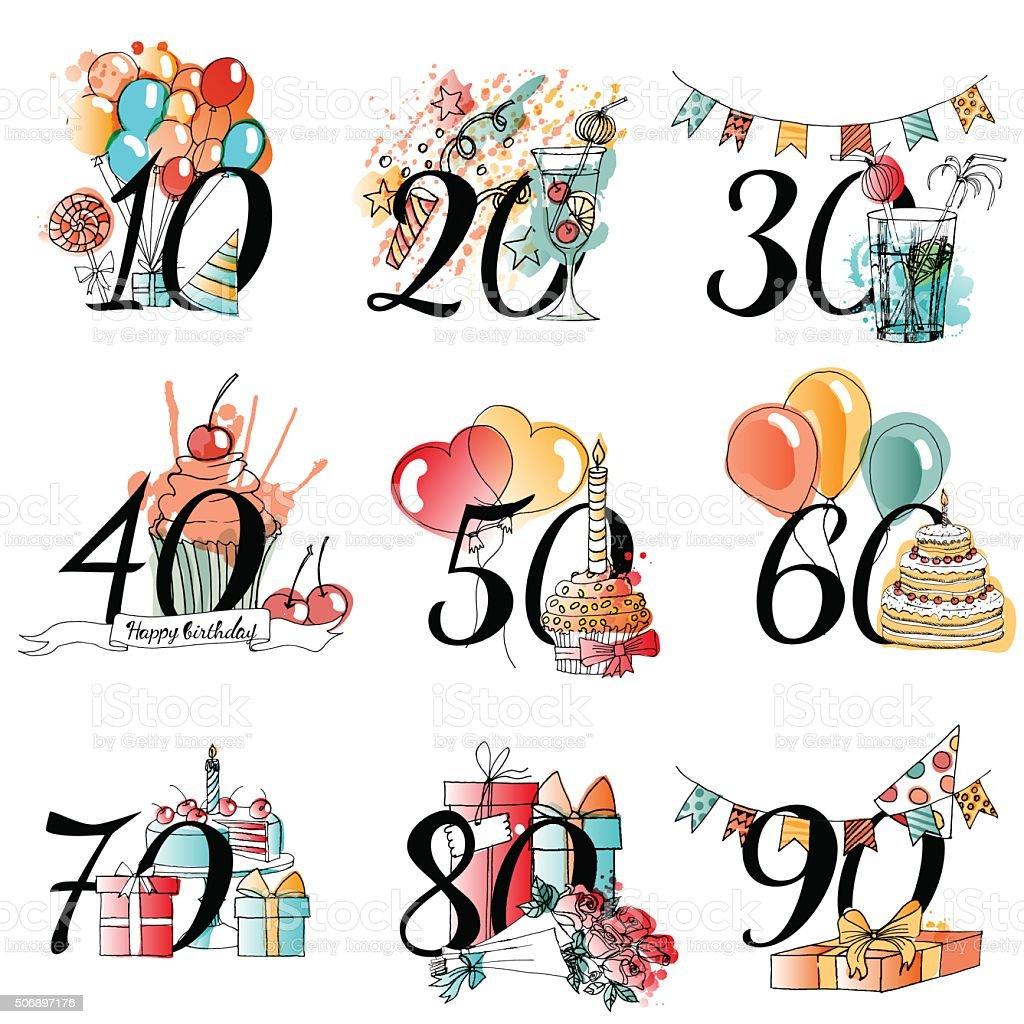 Carta di compleanno felice vettoriale - illustrazione arte vettoriale