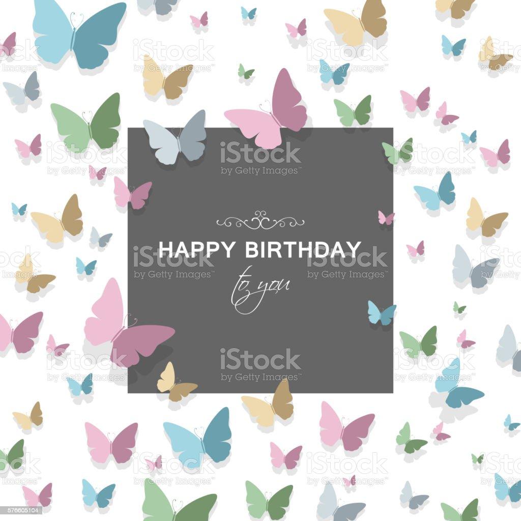 Vector Happy Birthday Greeting Card Design Stock Vector Art More