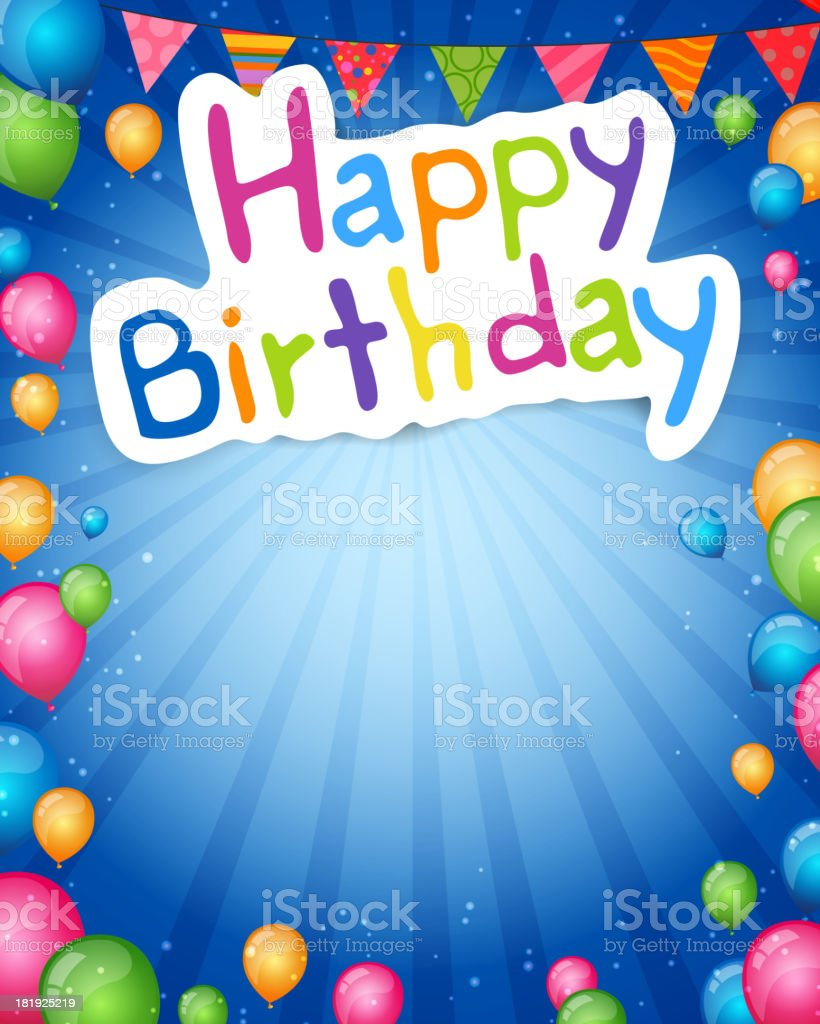 Vector Happy Birthday Greeting Card royalty-free stock vector art