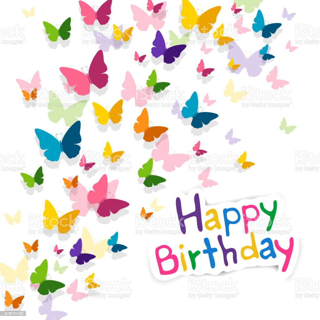 Vector happy birthday greeting card with butterflies stock vector vector happy birthday greeting card with butterflies royalty free vector happy birthday greeting card with m4hsunfo Gallery