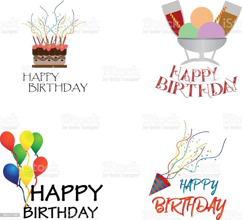 Vector Happy Birthday Icon Stock Illustration - Download
