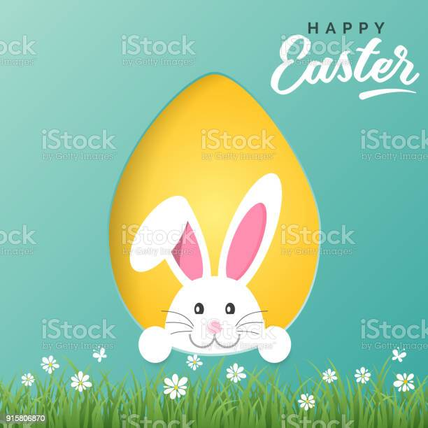 Vector happy easter greeting card with easter bunny and colored paper vector id915806870?b=1&k=6&m=915806870&s=612x612&h=xeeepgde9olno s3y3h3j0o64pqszdijnawtfjyl4ds=