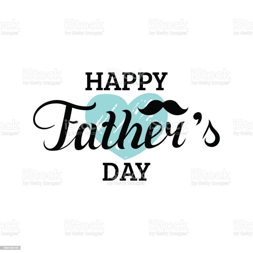 Caligrafía de feliz día de las padres de vector para saludo tarjeta, festivo cartel etcetera. - ilustración de arte vectorial