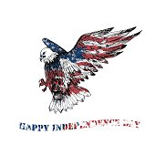 Vector Happy Independence Day greeting card.
