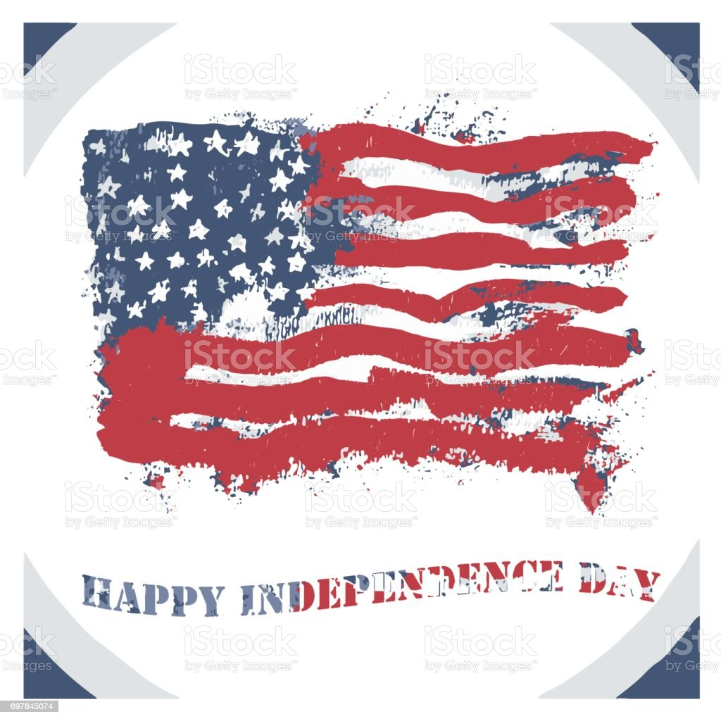 vector happy independence day greeting card stock
