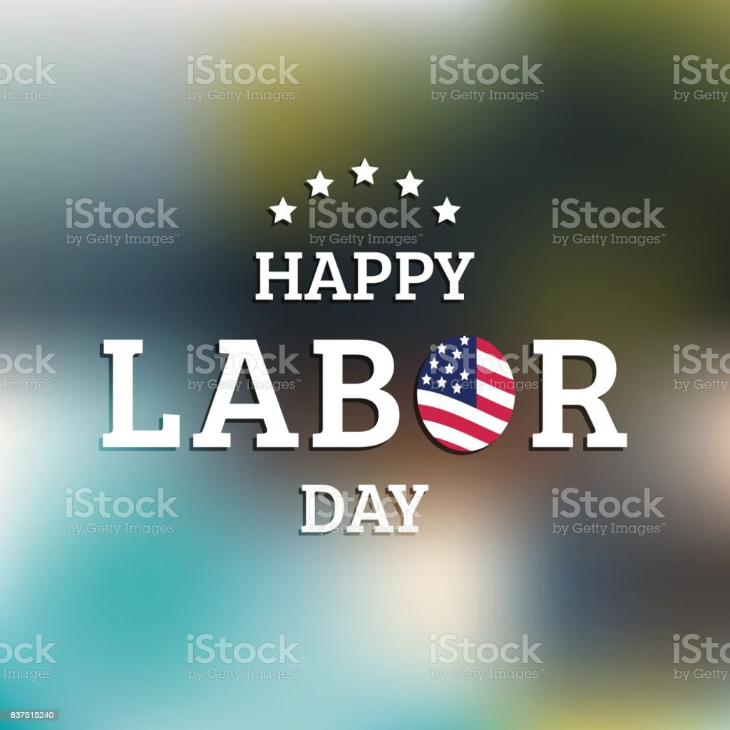 Vector Happy Labor Day card. National american holiday illustration...