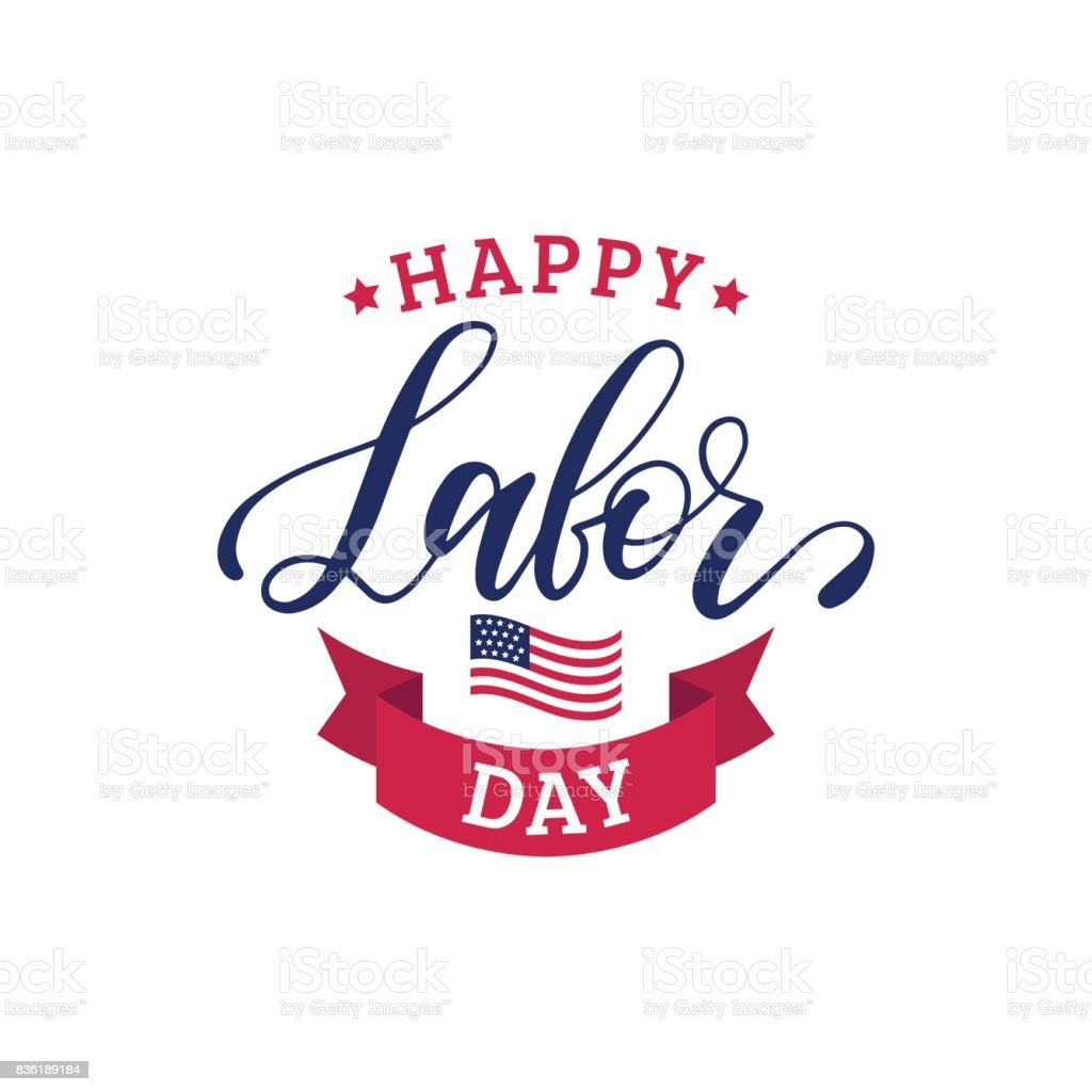 Poster With Hand Lettering Of National American Holiday