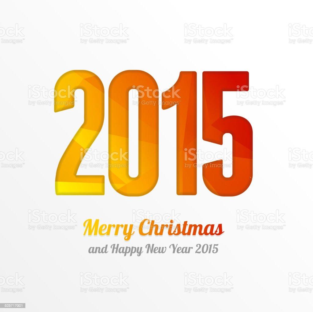 Vecteur De Bonne Annee 2015 Colore Carte De Voeux Et Danniversaire