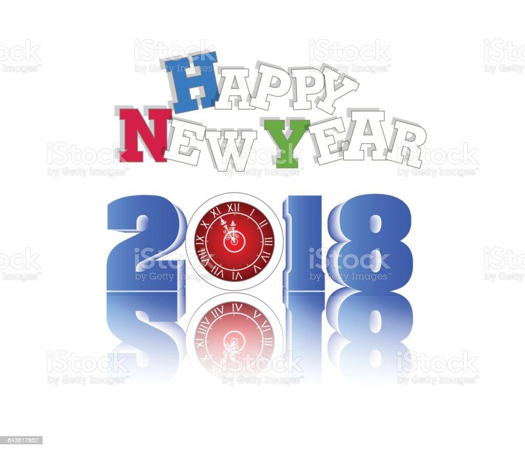 vector happy new year 2018 illustration royalty free vector happy new year 2018