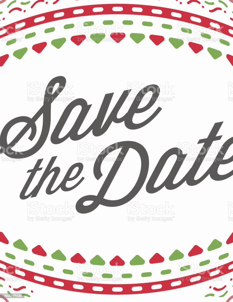 Vector Happy New Year Or Merry Christmas Theme Save The Date - Christmas save the date template