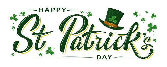 Vector Happy St Patrick's Day logotype.