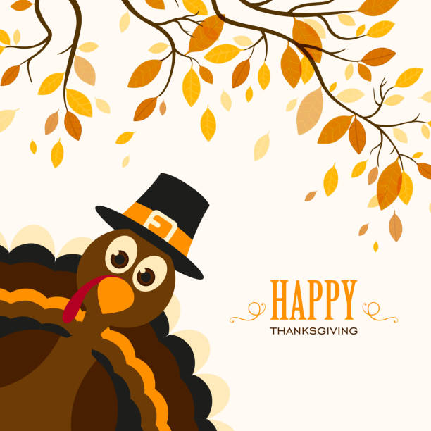 Vector Happy Thanksgiving Celebration Design vector art illustration
