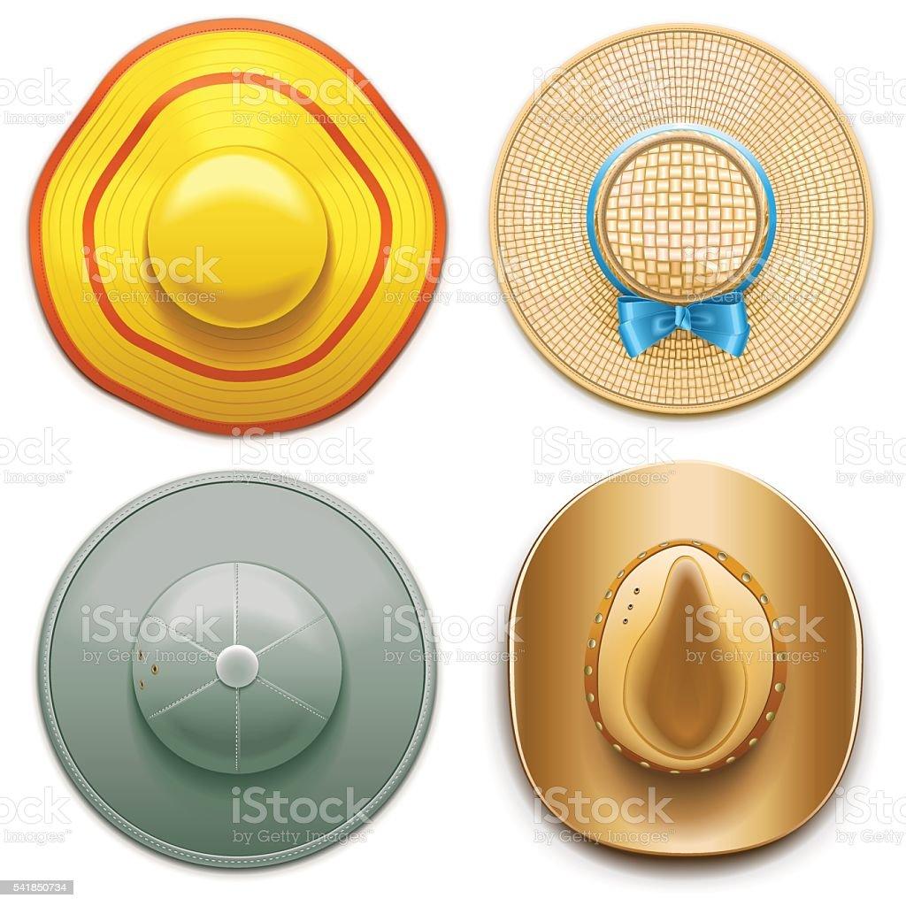 Vector Hats Set 2 vector art illustration
