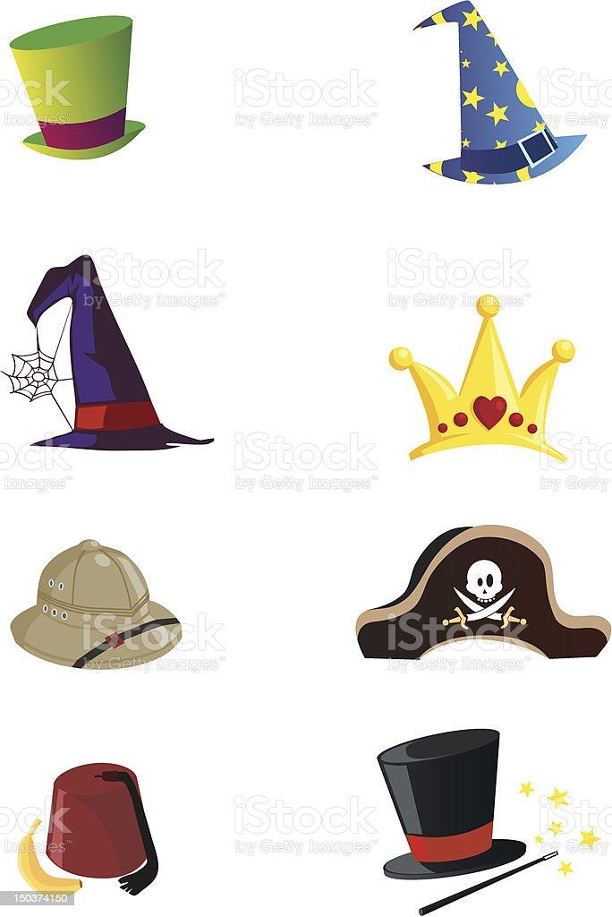 Vettore cappelli - illustrazione arte vettoriale
