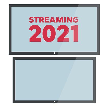 Vector HD TV. Lcd tv display screen