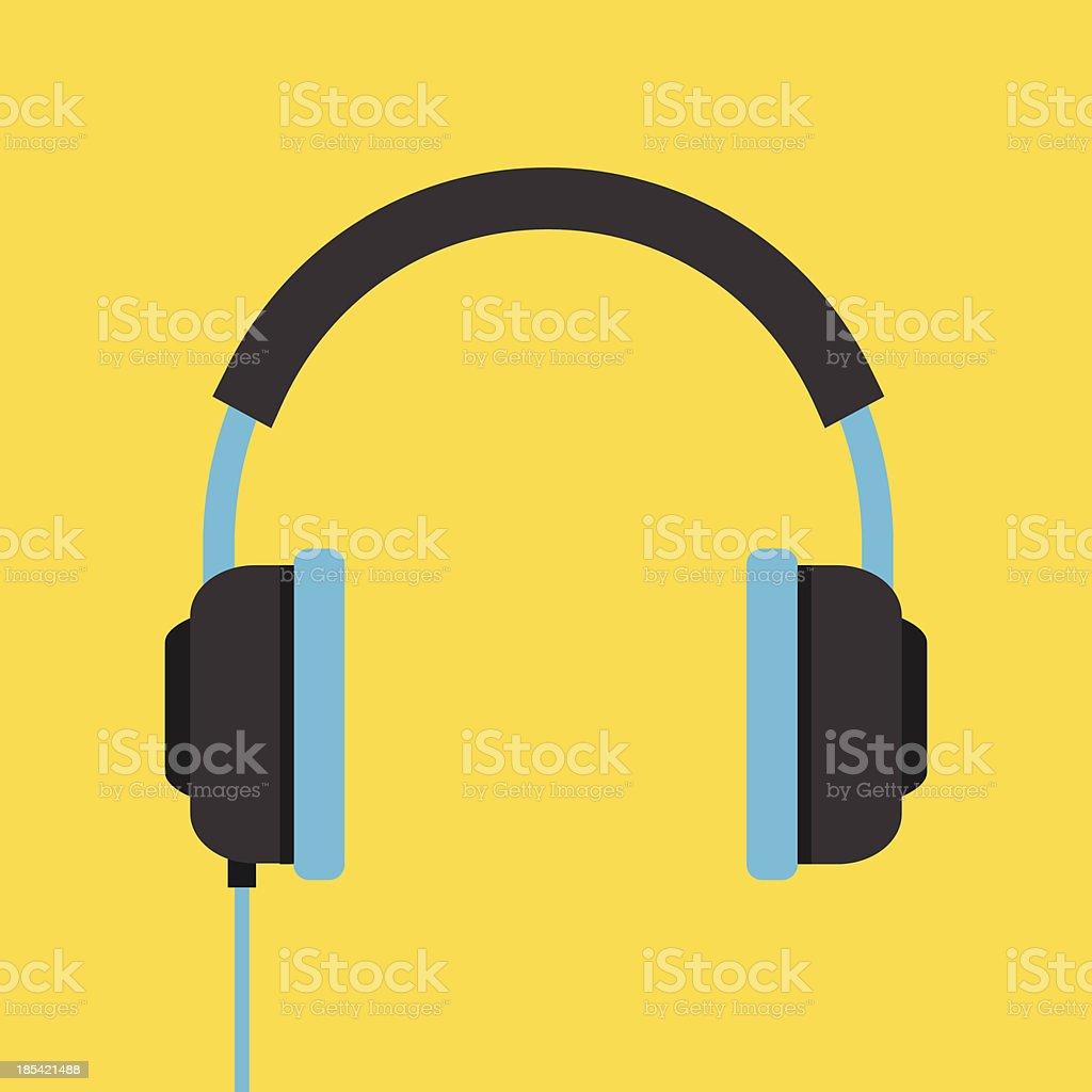 Vector Headphones Icon vector art illustration