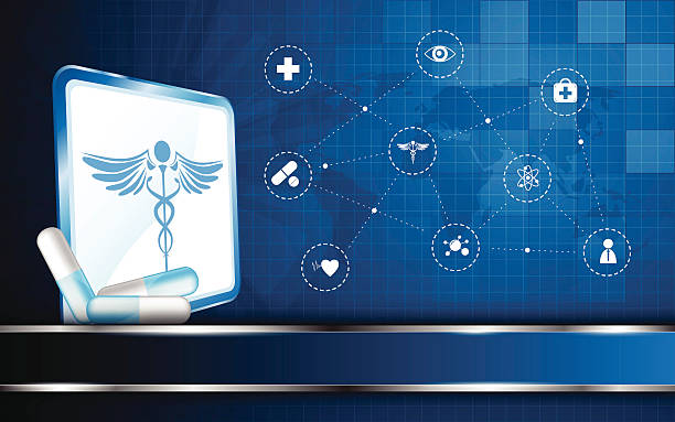 Vektor medizinische vision Konzept Hintergrund – Vektorgrafik