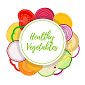 Vector healthy vegetables, vegetarian collection. Organic farm product. Cartoon flat style