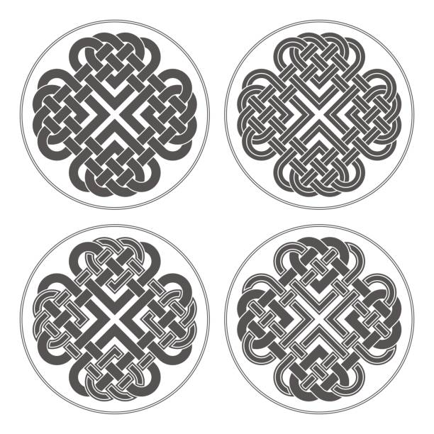 Download Silhouette Of A Celtic Knot Letters Illustrations, Royalty ...