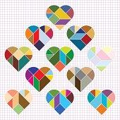 Vector Heart Puzzle