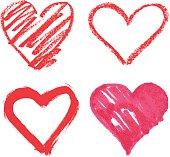 vector heart set