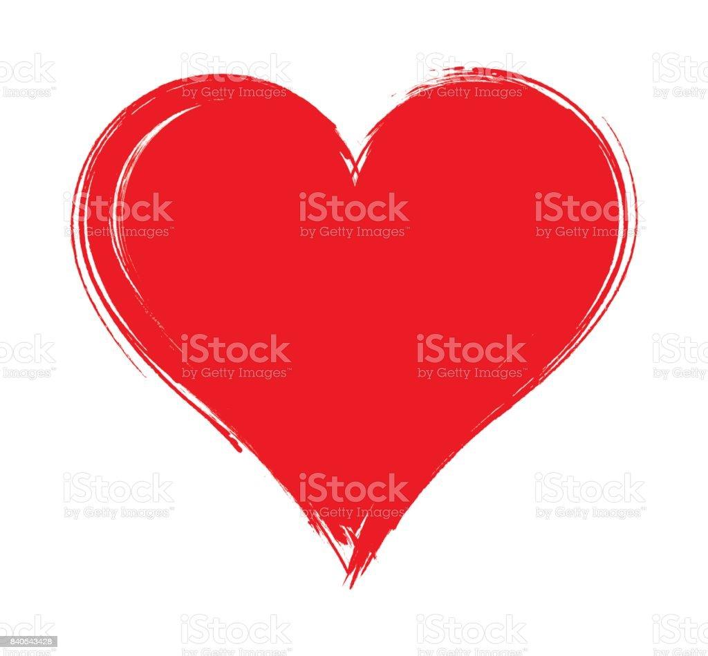 Vektör Kalp şekli çerçeve Beyaz Arka Plan üzerinde Izole Fırça