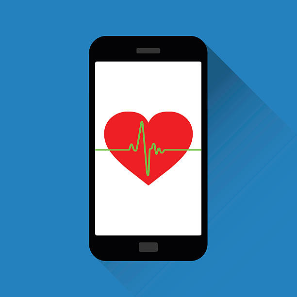 Vector Heart Symbol And Heartbeatfitness App Stock Vector Art More