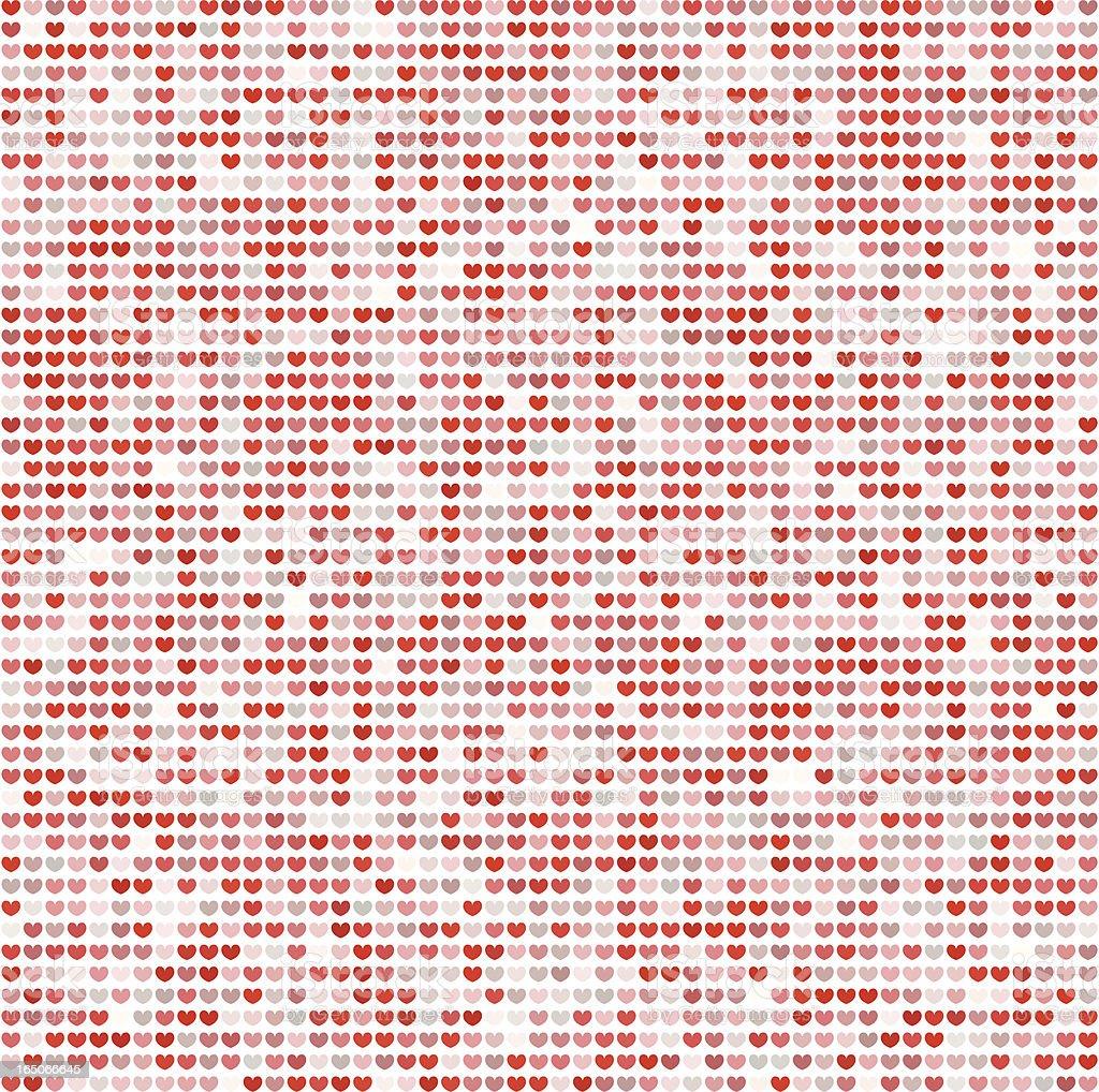 Vector Hearts, Mosaic vector art illustration