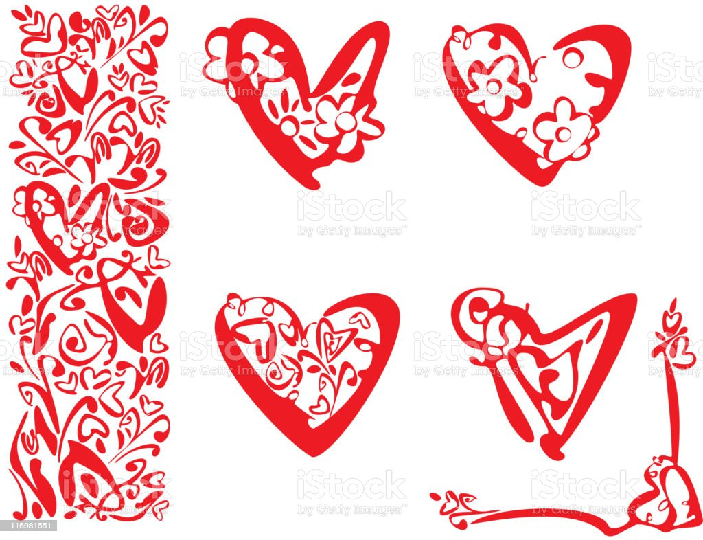 Vector hearts shape design elements. royalty-free vector hearts shape design elements stock vector art & more images of abstract