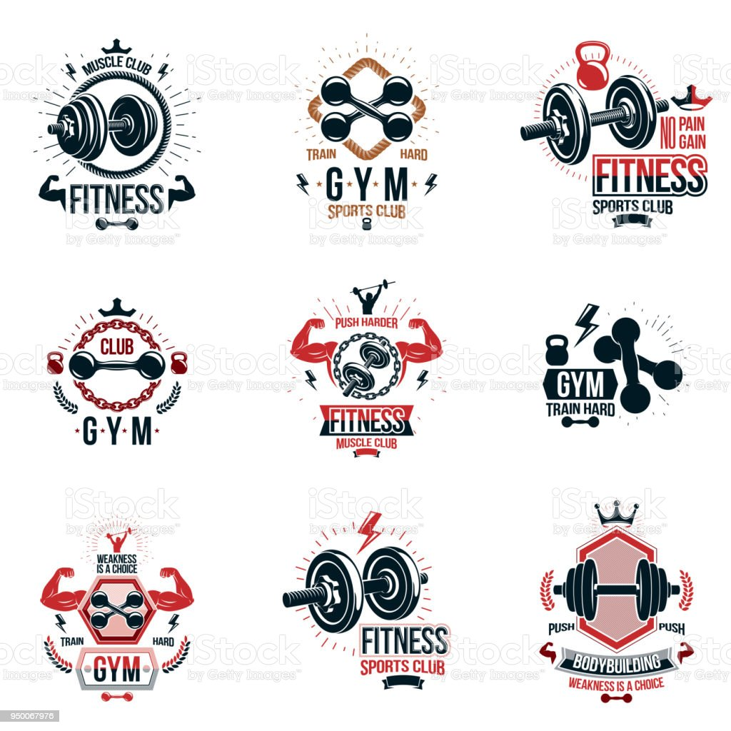 Vector Heavy Load Power Lifting Theme Signs And Advertising