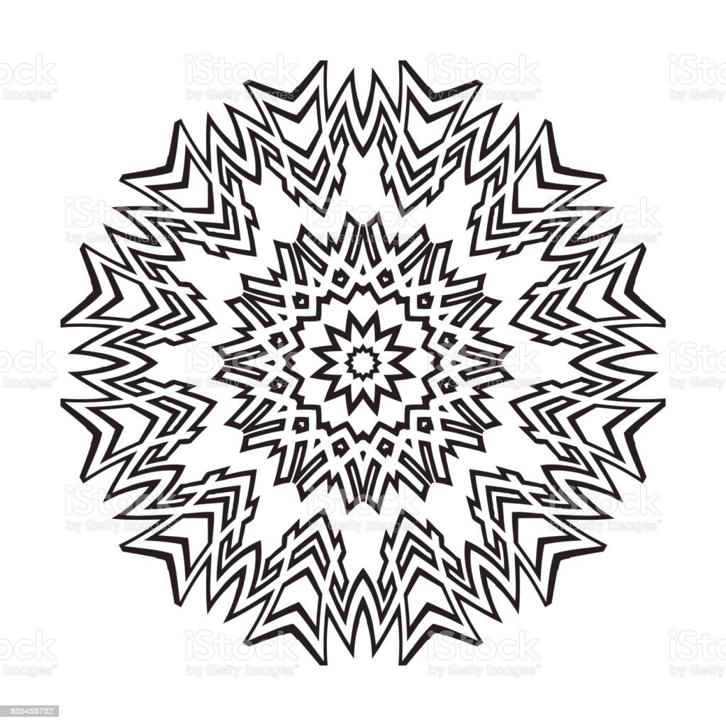 Vector Henna Tatoo Mandala Geometric Style For Greeting Card