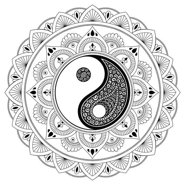 best yin yang illustrations royalty free vector