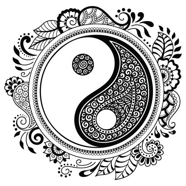 yin yang ball illustrations royaltyfree vector graphics