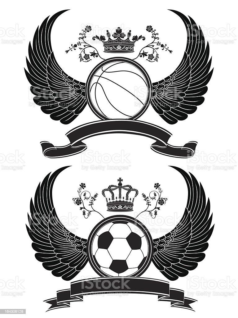 Vector heraldic sport pattern. royalty-free stock vector art