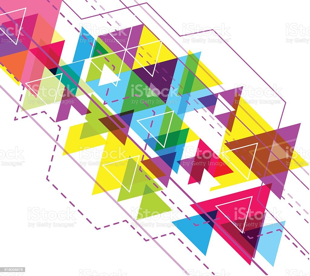 vector hexagon geometry abstract polygon background triangle poster