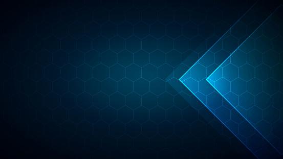 Vector hexagonal background