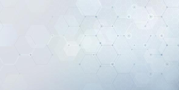 Vector hexagonal network pattern.