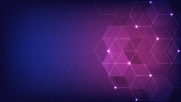 Vector hexagons pattern. Geometric abstract background with simple hexagonal elements. Medical, technology or science design. Vector hexagons pattern. Geometric abstract background with simple hexagonal elements. Medical, technology or science design medical technology stock illustrations
