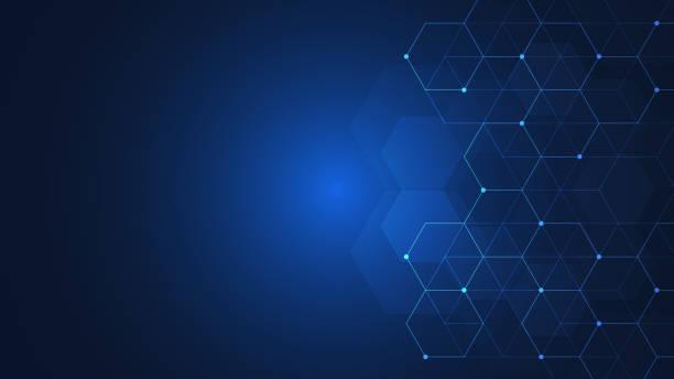 vektor-sechsecke-muster. geometrischer abstrakter hintergrund mit einfachen sechseckigen elementen. medizin-, technologie- oder wissenschaftsdesign. - bildkomposition und technik stock-grafiken, -clipart, -cartoons und -symbole
