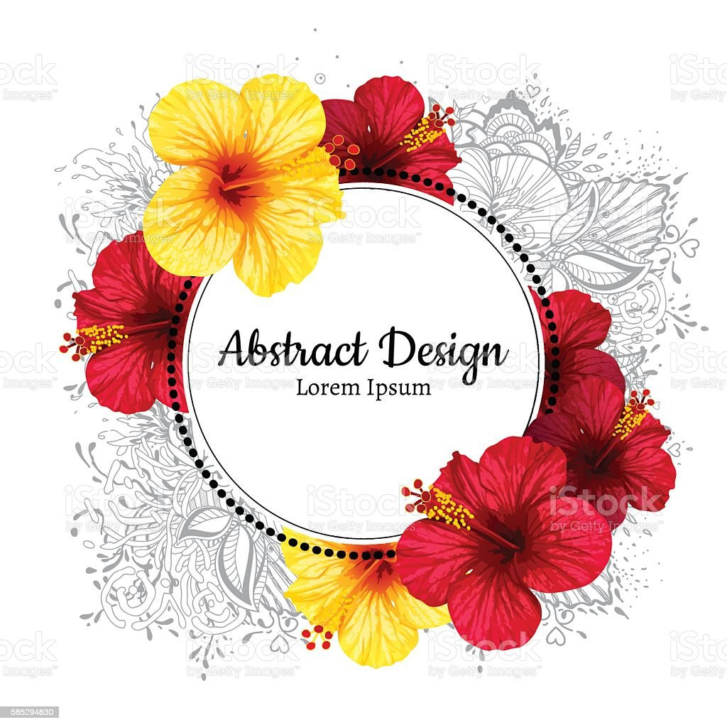 Vector hibiscus flower invitation card stock vector art more vector hibiscus flower invitation card royalty free vector hibiscus flower invitation card stock stopboris Choice Image