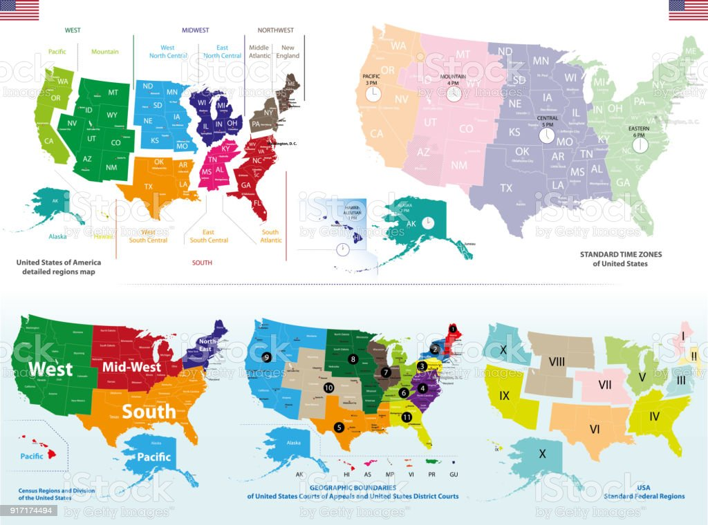 Vector High Detailed Map Of United States Stock Vector Art More - Detailed-map-of-us