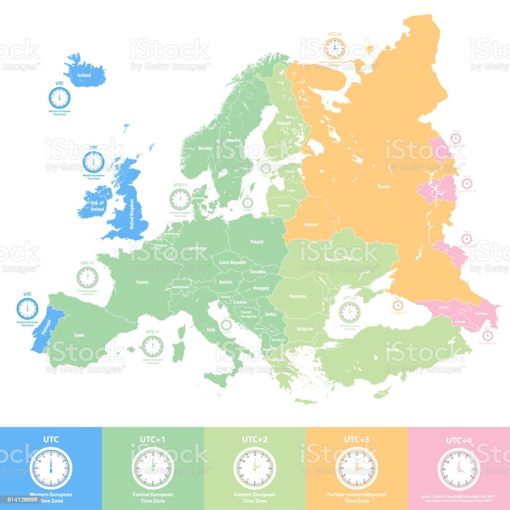 Karta Usa Tidszoner.Tidszoner Europa Karta Karta
