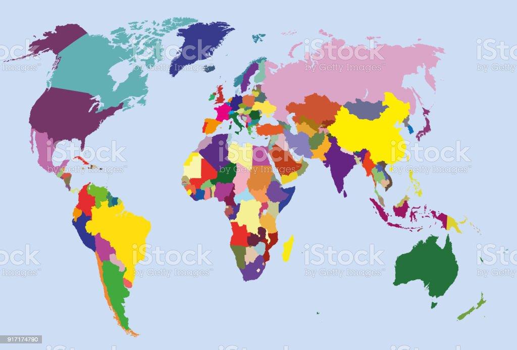 Vector world map geometric world map design silhouette vector vector world map vector high detailed world map stock vector art 917174790 istock gumiabroncs Choice Image