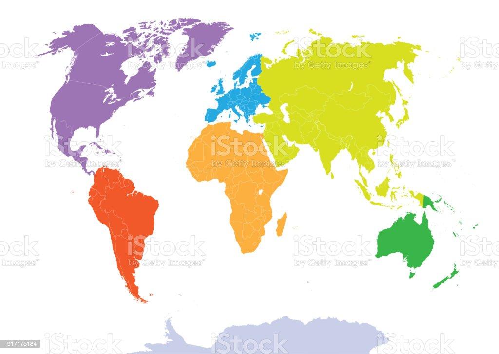 Vector high detailed world map stock vector art more images of vector high detailed world map royalty free vector high detailed world map stock vector art gumiabroncs Images