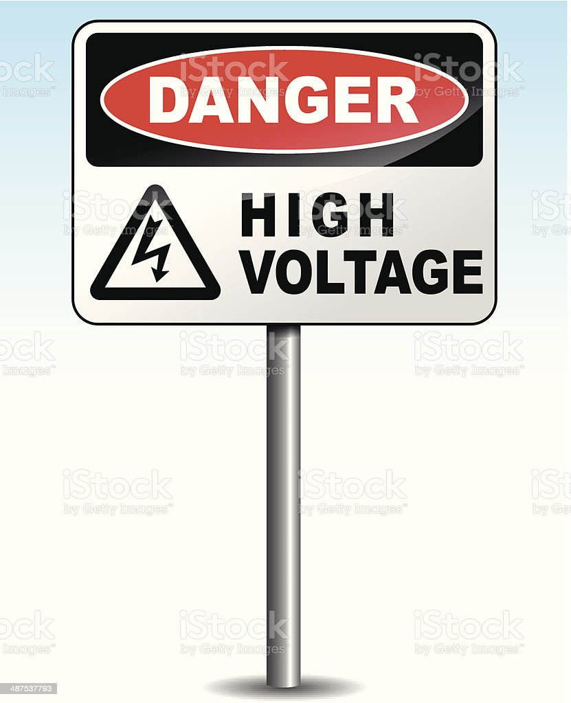 Vector high voltage sign vector art illustration