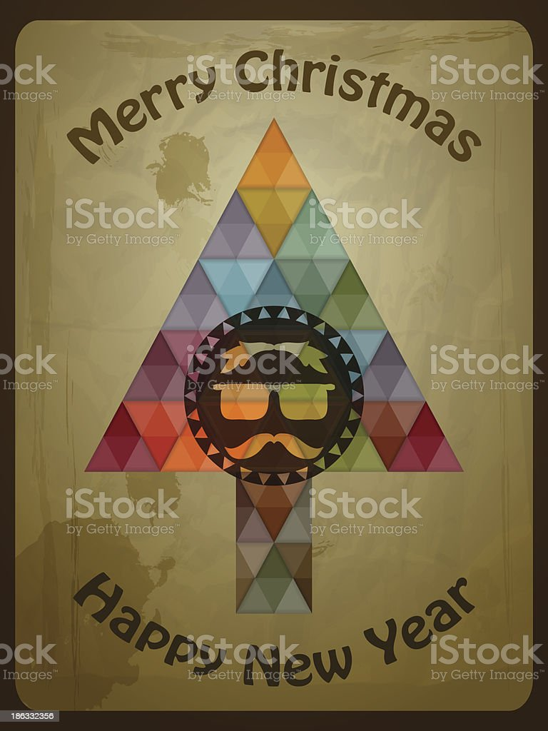 Vector Hipster Christmas  Greeting Card royalty-free vector hipster christmas greeting card stock vector art & more images of art