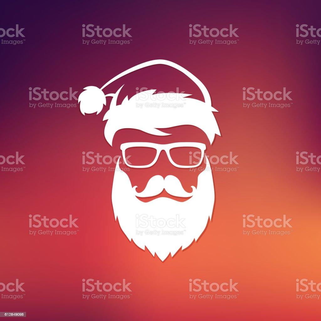 Vector Hipster Santa Claus vector art illustration