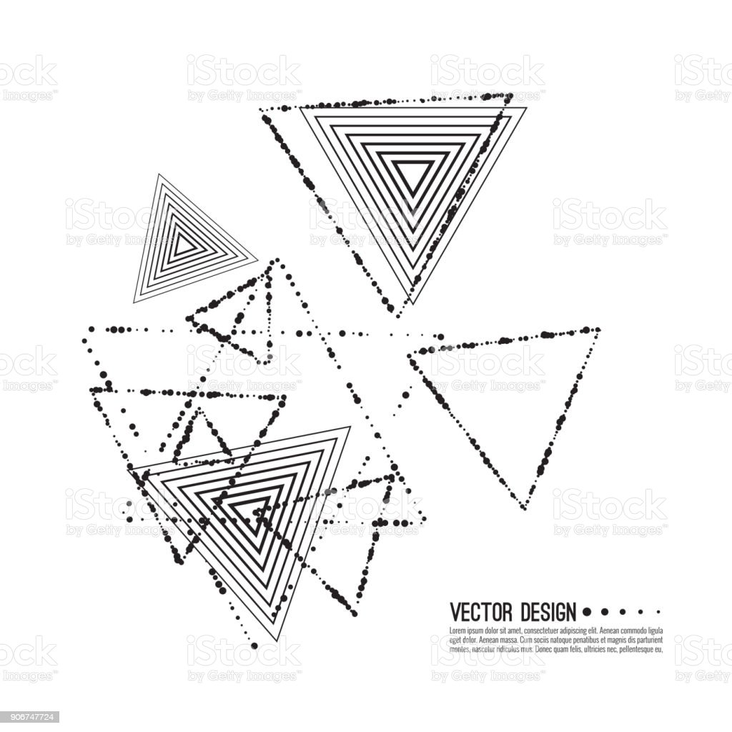 Vector Hipster Triangle Background. vector art illustration